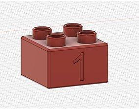 3D printable model Lego Duplo compatible 2x2 1