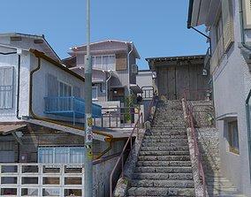 3D model Japanese Stair Scene