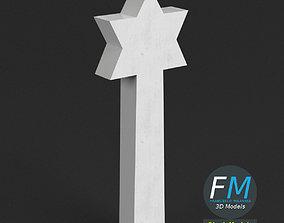 3D model War memorial gravestone - Star of