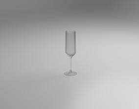Champagner Flute 3D asset