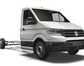 VW Crafter CR35 Long Flat frame chassis 2021 3D model