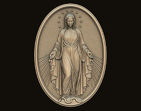 Virgin Mary Medallion no 3 3D printable model
