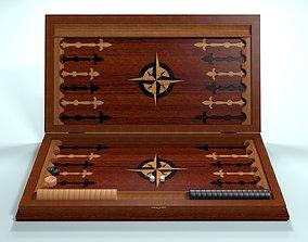 3D asset animated Backgammon