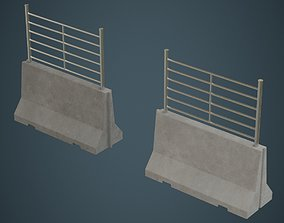 Concrete Barrier 2B 3D model