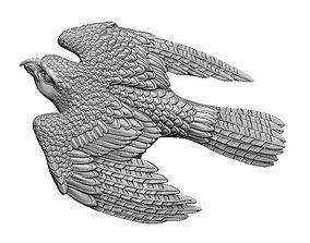Bird Falcon relief pendant for 3d print CNC