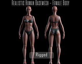 3D model Realistic Human Basemesh - Rigged - UVMapped - 1