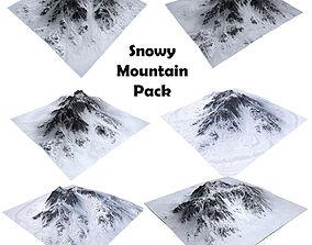 Snowy Mountain Pack 3D model
