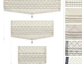 Roman Curtains Marit 3D asset