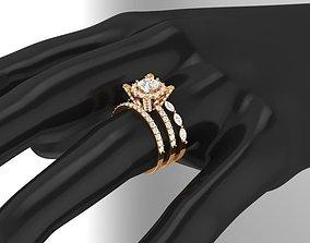 3D Diamond Engagement Ring