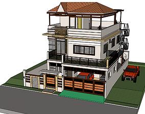 Modern House 3D print model exterior