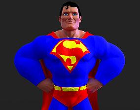 3D model rigged Superman - Clark Kent - Cartoon