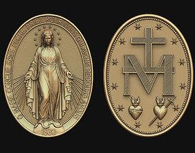 3D printable model Virgen Milagrosa Miraculous Medal