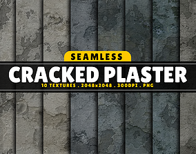 3D Texture Pack Seamless Cracked Plaster Vol 01