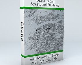 Osaka Streets and Buildings 3D