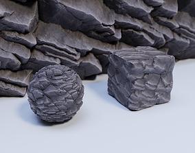 Cliff 01 Material 3D asset