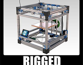 rigged RepRap FDM 3D printer