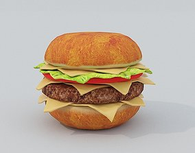 Hamburger PBR 3D asset