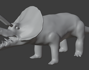 Triceratops game-ready 3D asset