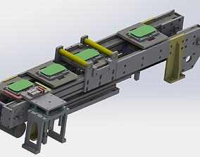 3D With jacking and cleaning function conveyor