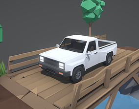 3D asset Stylized Offroad Car 4