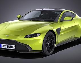 LowPoly Aston Martin Vantage 2019 3D asset
