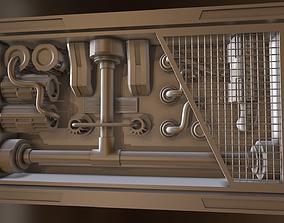 Sci fi Interior Wall Greeble - Module 3D asset