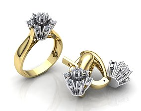 MGold038 Diamond Set 3dmodel 3D print ready