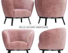 VR / AR ready Belle Accent Armchair 3d model