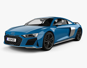 Audi R8 V10 coupe with HQ interior 2019 3D