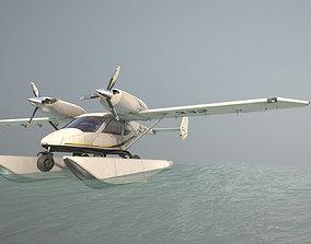3D asset Accord-201 Floatsplane BlackGoldLines Livery
