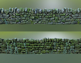 rocks 3D asset game-ready Stone Wall