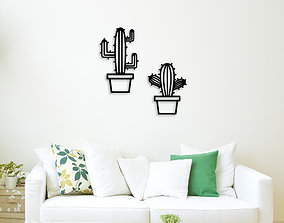 CACTUS POTS FOR WALL DECORATION 3D printable model