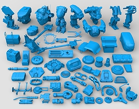 joints 3D model Kit bashe - collection-28 - 61 pieces