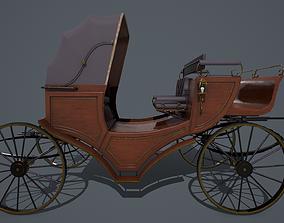 3D asset Retro carriage PBR