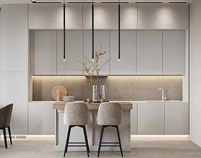 Apartment Interior Scene and Corona Render 3D model