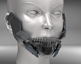 3D printable model Cyborg Jaw Armor