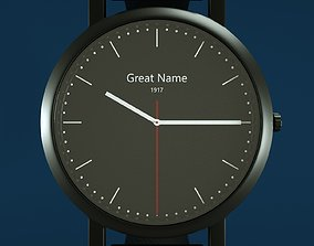 3D Black watch