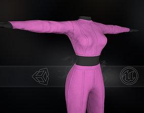 Pink Women Outfit 3D asset