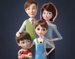 3D Cartoon Family Rigged V2