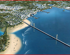3D model Modern City Animated 098