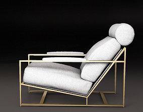 3D Milo Baughman 1965 armchair Milo chair