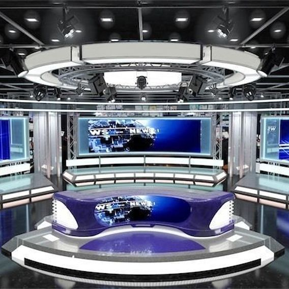 Virtual TV News Set 1