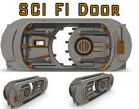 SCI FI Door 3D model animated
