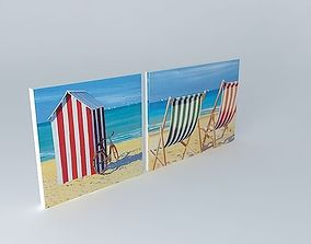 3D model Set 2 Beach canvases houses the world