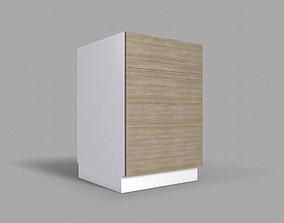 3D model Kitchen Cabinet with Drawers v2 - 60 cm