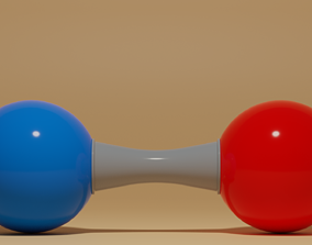 Nitric Oxide Molecule NO 3D model