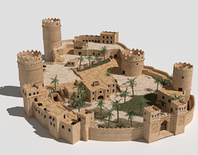 ancient desert fort 3D model