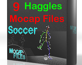 6-Soccer football motion capture animations - 3D model 2