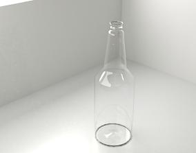 3D Glass Bottle liquid