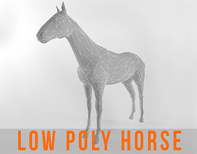 Horse Low Poly Mammal Stallion Animal 3D asset